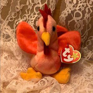 Beanie Baby TY Strut the Chicken Rare Excellent